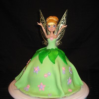 Tinkerbell Tinkerbell!! Covered in fondant with fondant flowers :)
