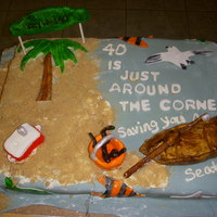 Key West Cake My cousin asked me to come up with a Key West themed cake for her husband. She was surprising him with to Key West for his birthday which...
