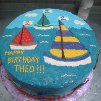 Sailing To 2! Buttercream design
