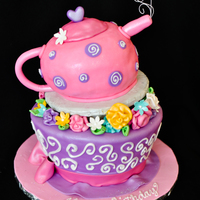 Madhatter's Tea Party Cake This cake was horrible to make! The bottom was fine but the teapot kept sliding off the cake board and I had to recover it 3 times! Next...