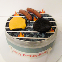 Bbq Grill Cake