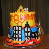 Tommy Birthday Cake Butter cream frosting and Fondant. Fire Fighter Theme.
