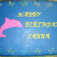 Dolphin Moma's 19Th Birthday Cake  My daughter and her room mate are commissioner at Coker College this year, where they help in coming freshman get adjusted to campus life....