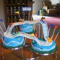 Rollacoster I had fun making this one. This is a co-workers daughter's birthday cake. Next time I do this one it needs to be ordered month in...