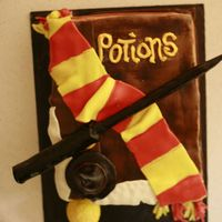 Harry Potter And The Half Blood Prince This is only my 3rd ever cake. I am self taught and flying by the seat of my pants so to speak. I love Harry potter, and I love cake...so...