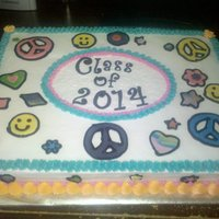 "Class Of 2014 This was done for an 8th grade ""graduation"" party."
