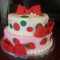 Strawberry Shortcake Themed Cake This was done for a girl who actually brought me a picture of a cake from the CC website. Sorry, I can't remember who made the...
