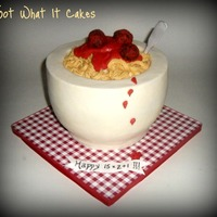 Bowl Of Spaghetti! I did this cake for my sister, who loves spaghetti and meatballs! It was so easy to do and so fun! FAQ's: Bowl is cake (1-6 inch round...