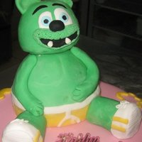 Gummy Bear Figure Gummy Bear Cake topping, made out of fondant and RKT. It was fun to do, hope you like it!! The figure is 20cm wide and 22 cm tall!