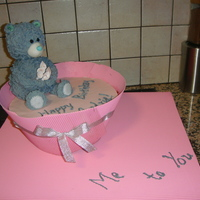 Metoyou Birthday Cake Tatty Teddy made out of RKT fondant and covered with Royal icing to give fluffy effect! really enjoyed making this cake!