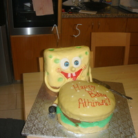 Spongebob!! I made this for my little sister's birthday.. spongebob is RKT (first time using RKT and the recipe i found on this side is just...