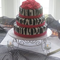 "Funky Zebra Wedding Customer was an older bride and said she wanted something ""Funky"" that would 'Dazzle' her guests. She loved it. MMF..."