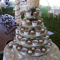 Wedding Cupcake Tower My first wedding cupcake tower. Vanilla and Chocolate cupcakes filled with chocolate mousse and/or espresso ganache. Vanilla/Chocolate...
