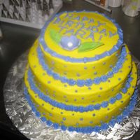 Tara's Birthday All Buttercream. I am doomed to BC as I can't do fondant! :( Taking a class next week...crossing my fingers.