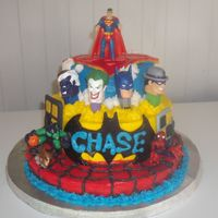 Super Hero Cake This is a photo of ny grandson Chase's birthday cake...