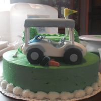 Cart Runs Over Golfer Cake this is my sons 23rd birthday cake..im still working on my butter cream spreading technique but i live in Hawaii and its HOT and it seems...