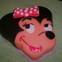 Minnie Mouse Cake This cake was made for my niece's sister in law's baby.