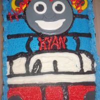 Tommy The Train Cake This cake was made of butter cream and fondant peices for my grandson Kyan