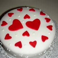 Just Hearts  A cake for my husband who was comming from a trip.It was a white cake with a layer of chocolate ganache. Very simple, just hearts, I had...