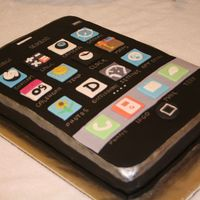 Iphone Cake   iphone fondant cake ...with apps.