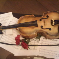 Violin first w/air brushing..