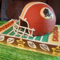 Redskins Cake I did this for a pee-wee league football team's banquet. They were the Redskins just like the real NFL team.