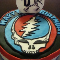 "Grateful Dead ""steal Your Face"" Cake"