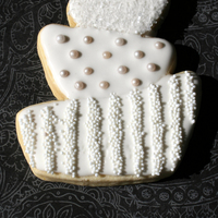 Contemporary Wedding Cookie Custom designed sugar cookie, first try.