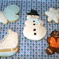 Winter Themed Cookies Without offending anyone, I do seasonal cookies instead of holiday cookies. That way if someone wants to give as a gift for the holidays, a...