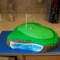 17Th Hole At Sawgrass, Ponte Vedra Beach, Fl Birthday Cake for my boyfriend who loves golf. This is the notorious 17th hole at Sawgrass.
