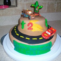 2Nd Birthday Cake - Cars Disney Cars cake for my son's 2nd birthday.
