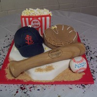 Cardinals Baseball This cake was for a deployment party for an airborne ranger. His wife gave me a description of what she wanted. My friend said there was a...