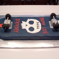 Skateboard Thank you to all the CC skateboards for the inspiration!! This is two 1/4 sheet cakes carved in the shape of a skateboard. I made the...