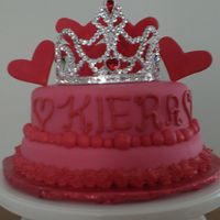 Princess Cake   A b-day cake for a three year old cousin. She requested pink with red hearts so this is what I came up with