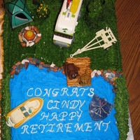 Soo Long Cindy Retirement for a co-woker of mu husband's in the military. All BC with fondant. pretzel, RI, and chocolate accents as well some store...
