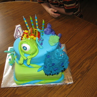 Monsters Inc. I made this for my son's 4th birthday. All MMF and BC