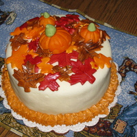Fall Cake Just for fun fall themed cake!