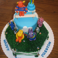 Backyardigans Thanks for all of your pictures here on CC to help the idea process along! The little boy I made this for absolutely loved it!!