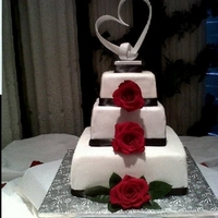 Black & White Square Wedding Cake