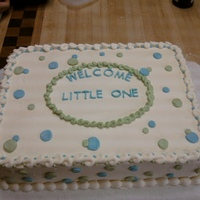 Ashlea's Baby Shower Inspired by many pics on this site, a white cake (with cheesecake flavored puuding added), cheesecake filling and buttercream icing and...