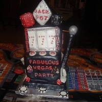 Casino Jackpot casino themed cake slot machine