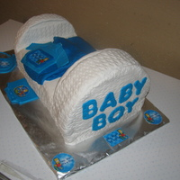 Bart Simpson Bassinets bart simpson theme baby shower cake