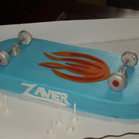 Skateboard Birthday BC w/fondant accents for a little boy who loves skateboarding. TFL!