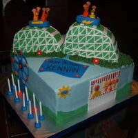 Roller Coaster Birthday  Birthday cake for a boy who loves roller coasters. This one was a beast to get stable - I had no idea what I was in for. But, a little...