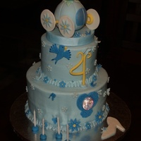 Cinderella Birthday  Cake for a very special little girl's Cinderella themed birthday party. Two tiered, bc w/fondant decorations. TFL ! By the way, 102...