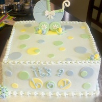 Stroller Baby Shower BC w/fondant decorations...TFL!!