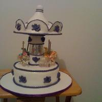 Carousel Cake   I made this for my daughters 2nd birthday