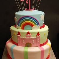 A Whimsical First Birthday Cake