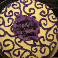 Purple Scroll Cake