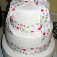 Poka Dots White chocolate, chocolate, and strawberry w/ bc and ribbon decorations